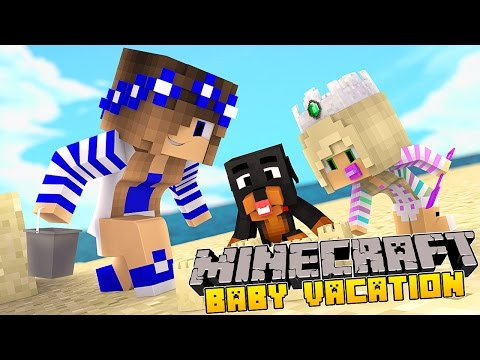 Minecraft Vacation-Little Carly-MEETING PRINCESS BABY LEAH!!