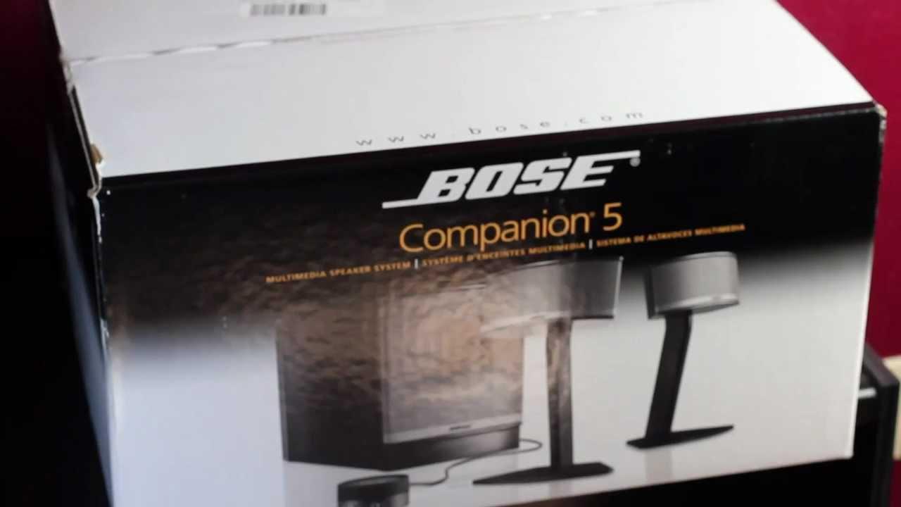 bose companion 5 multimedia speaker system unboxing youtube. Black Bedroom Furniture Sets. Home Design Ideas