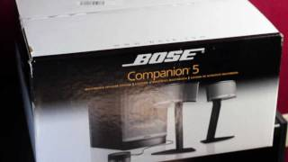 BOSE Companion® 5 Multimedia Speaker System Unboxing