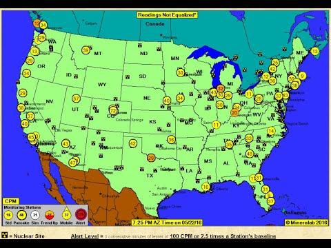 Fukushima West Coast Radiation LIVE Readings in Canada & USA