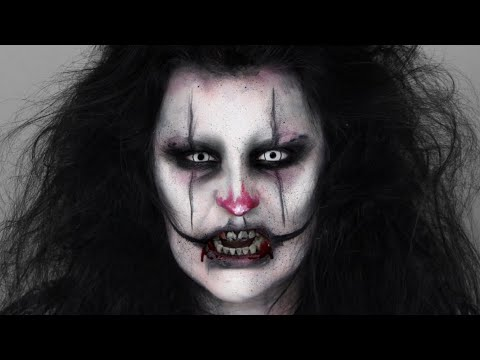 SCARY CLOWN | EASY HALLOWEEN MAKEUP TUTORIAL - YouTube