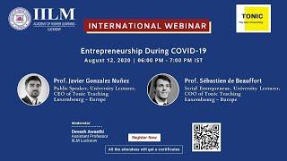 """International Webinar on """"Entrepreneurship During COVID-19"""""""