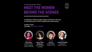 Women's History Month: Meet The Women Behind The Scenes