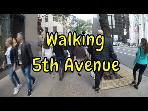 [4K] Walking 5th Avenue, NYC from 42nd Street to 59th Street