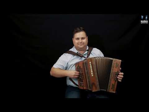 Učenje harmonike preko video lekcij l Moj fantič je na Tirolskol (ljudska) DEMO l Spletna šola Rošer