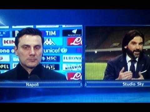 Napoli Milan 2 1 - Montella vs Adani Sky Sport