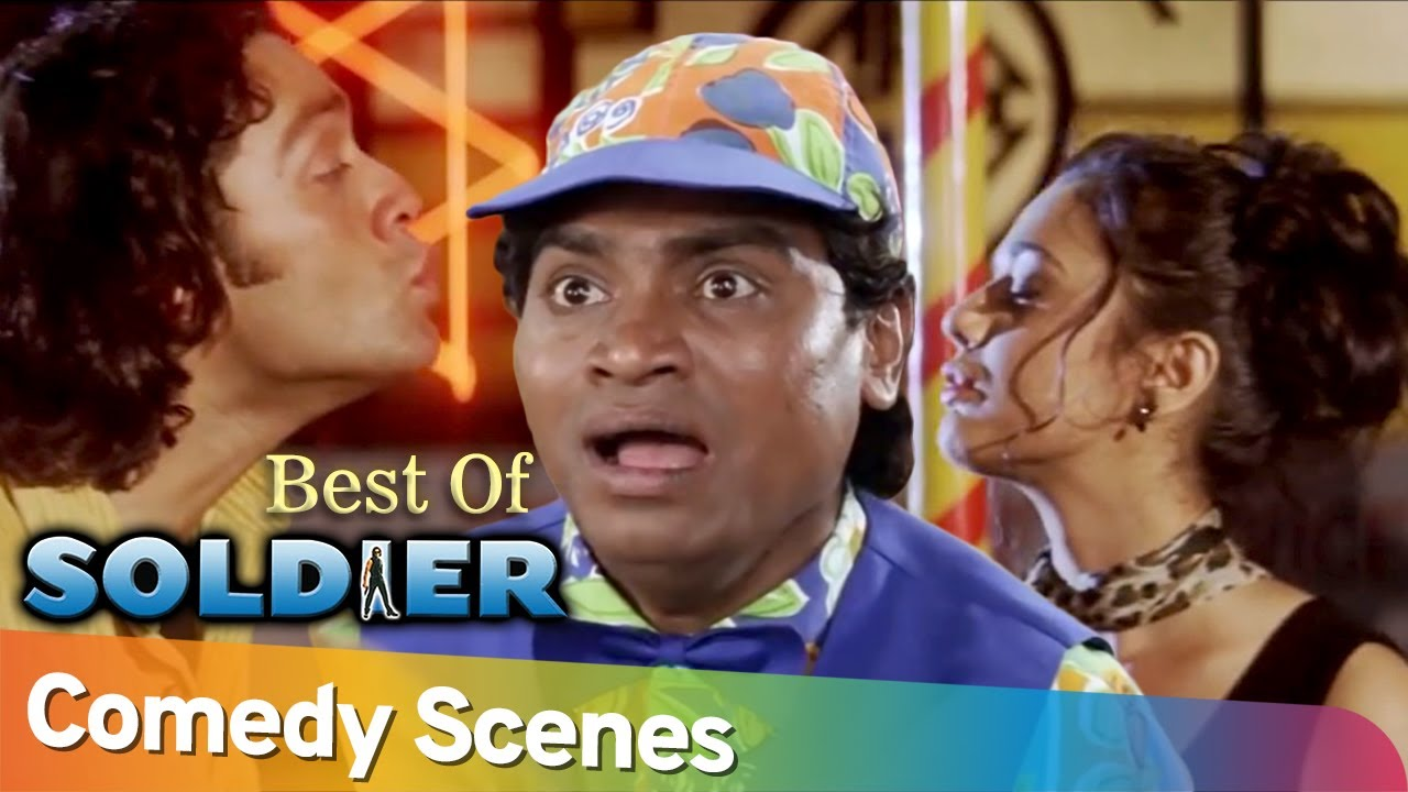 Best of Comedy Scenes - Superhit Movie  Soldier - Bobby Deol - Preity Zinta - Johnny Lever