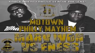 KLBL - Rap Battle - E-Ness vs Marv Won (Hosted By Philadelphia Freeway)