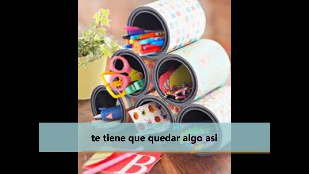latas decoradas - YouTube