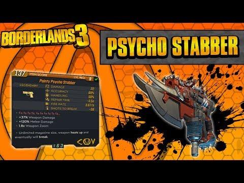 Borderlands 3 | Psycho Stabber Legendary Weapon Guide (Shoot Knives!)
