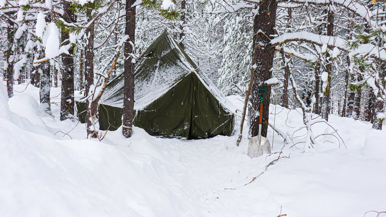 Download How I Live in a Winter Hot Tent, 10°F! - 6 Days