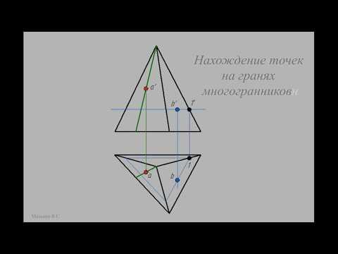 Инженерная графика Построение точек на гранях многогранника