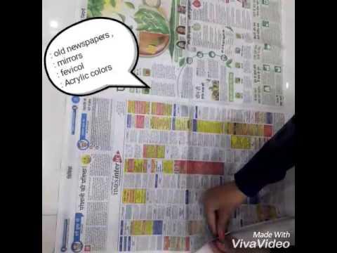 Newspaper wall hanging...Room Decor - YouTube