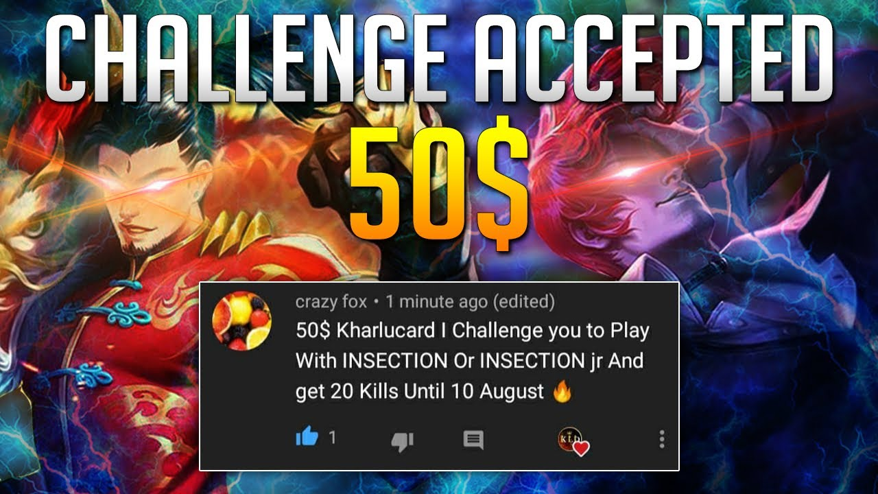 Kharlucard With INSECTION? | Feat, 50$ Challenge 20 Kills | Chou Moment | Mobile Legends Bang Bang