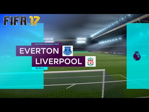 FIFA 17 - Everton vs. Liverpool @ Goodison Park (XL Match)