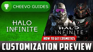 Halo Infinite - Customization Preview (Character \u0026 Weapons) *PLUS BATTLE PASS PREVIEW*