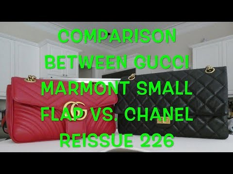 94df6df3579 Chanel Reissue 226 vs. Gucci Marmont Small Flap  Review   Wear and Tear!