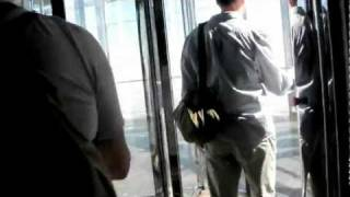 Dubai, UAE: Elevator ride to 124th floor of Burj Khalifa, tallest building in world! (19 Nov 2011)