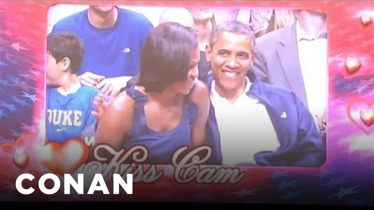 Download The Obama Kiss Cam UNCENSORED | CONAN on TBS