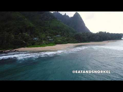 North Shore, Kauai, Hawaii 4k- Tunnels Beach, Ha'ena & Ke'e Beach, Napali Coast (Phantom 4 Pro)