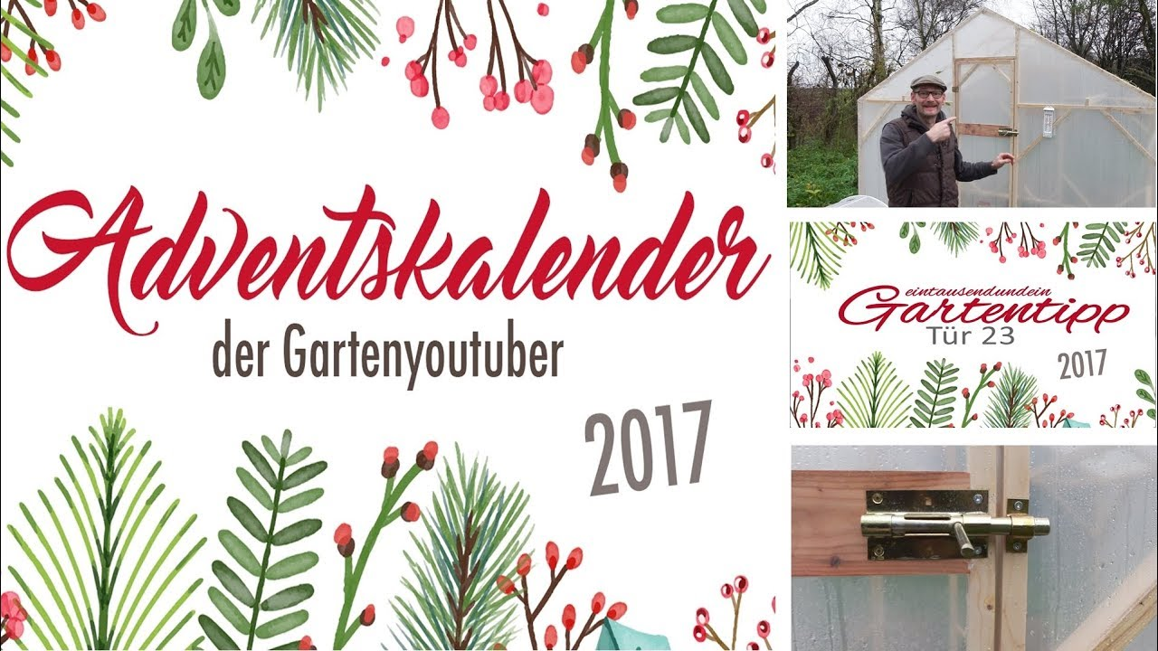adventskalender der garten youtuber 2017 trailer eintausendundein gartentipp youtube. Black Bedroom Furniture Sets. Home Design Ideas