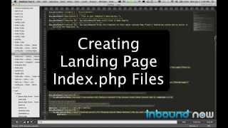Creating index.php for WordPress Landing Pages