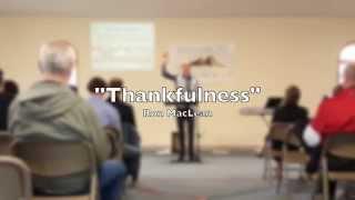 Sermon on Thankfulness: