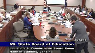 Michigan State Board Education Meeting September