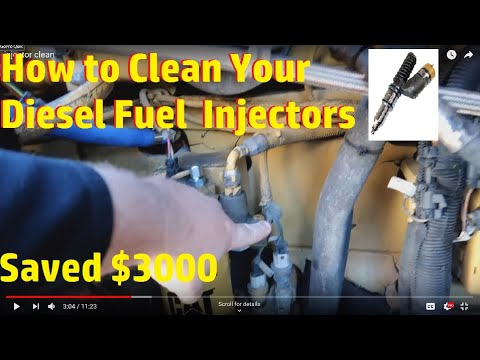Cleaning My Diesel Fuel Injectors...Saved Me $3000