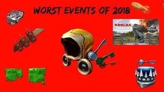 Piores eventos de 2018 [Roblox]