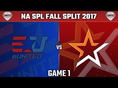 SMITE Pro League Fall Split Week 4 NA 2017 - eUnited vs. Allegiance (Game 1)
