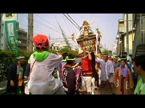 2010年 小和田熊野神社例大祭神輿渡御辻堂駅