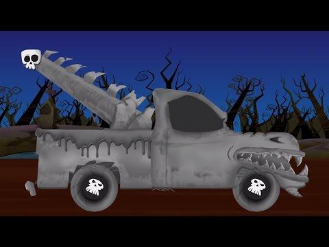 Menakutkan truk derek | Menakutkan garasi Mobil | Halloween Video | Car Repair | Scary Tow Truck