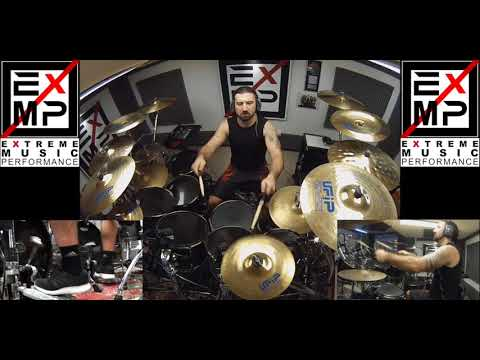 Master Of Puppets Extreme Drum Cover - Gee Anzalone feat. Braindamage - Metallica Song