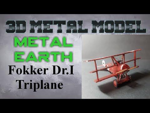 Metal Earth Build - Fokker Dr. I Triplane