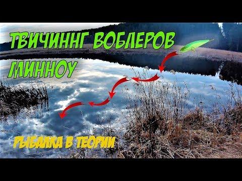 Рыбалка в теории. ТВИЧИНГ ВОБЛЕРОВ МИННОУ. Правильная проводка.