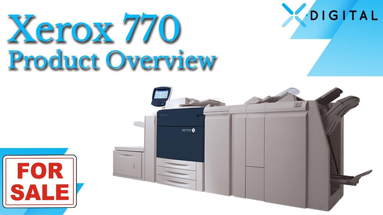 Color press printing - Xerox 770 Digital Color Press For Sale Xerox 770 Dcp With Only 43k On Meter Youtube