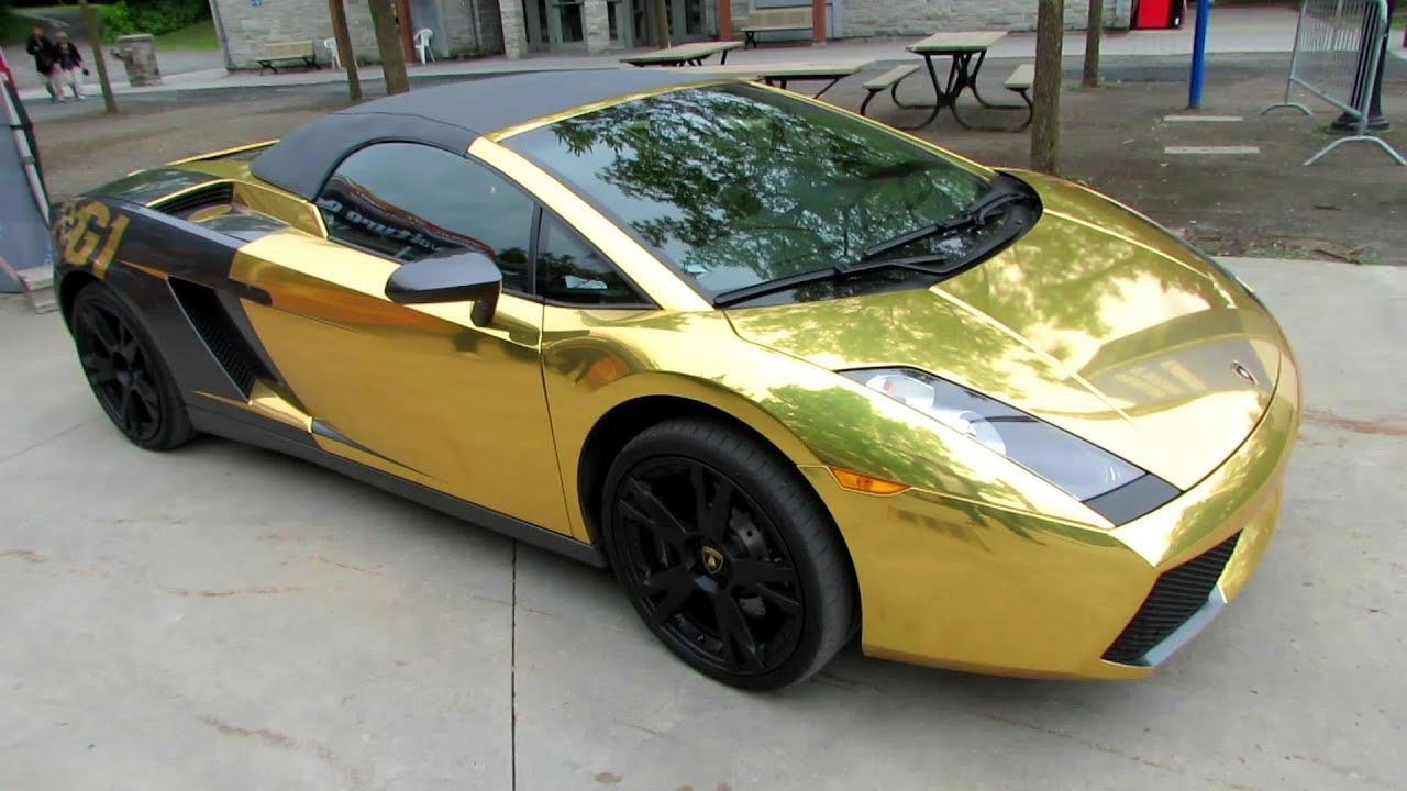 2009 lamborghini gallardo gold wrap by g1 tour peel. Black Bedroom Furniture Sets. Home Design Ideas