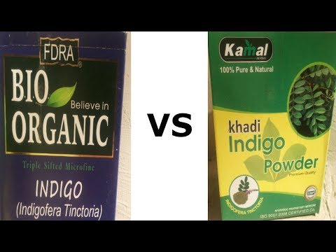 Bio Organic Indigo Powder Vs Khadi Indigo Powder Dye Hair Black NATURALLY w/ Henna & Indigo Powder
