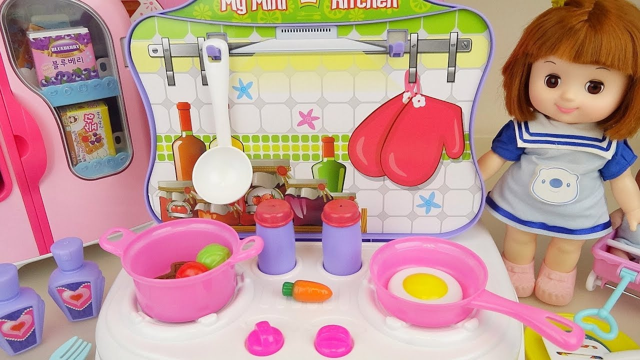 Baby Doll Kitchen Cooking And Dressing Table Play Baby Doli House Youtube