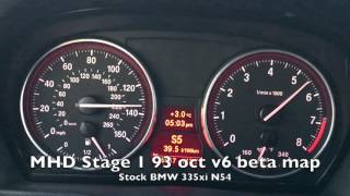Tuned BMW 335i - 60-160mph acceleration on MHD Stage 1