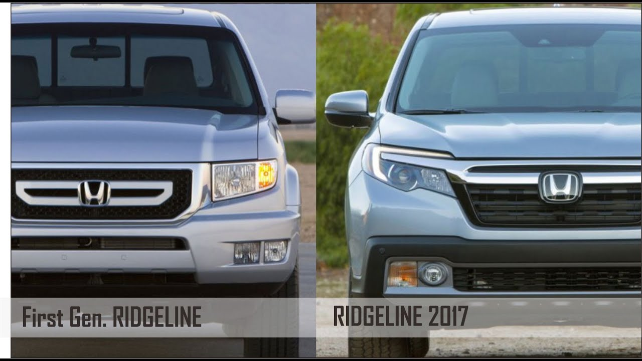 Visual parison Honda Ridgeline First Gen VS 2017 Ridgeline
