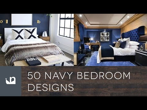 50 Navy Blue Bedroom Designs