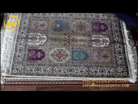 Turkish Handmade Natural Silk Oriental Carpet Rug