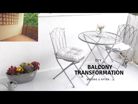 DIY BALCONY TRANSFORMATION | Before & After | Jade Vanriel