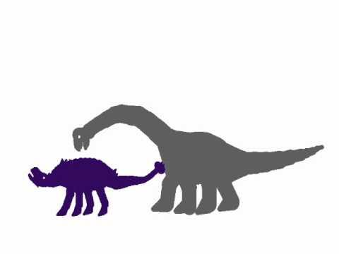 Dinosaur Face-off: Ankylosaurus vs Brachiosaurus - YouTube