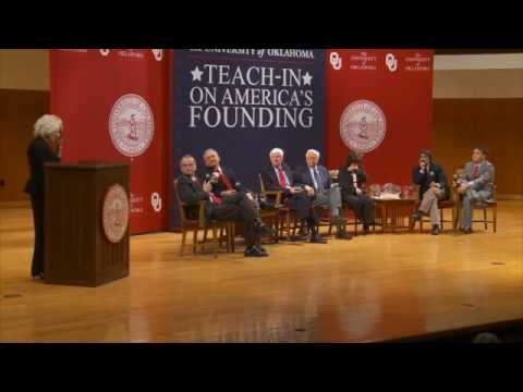 OU Teach-In - Panel on America's Founding moderated by Diane Rehm
