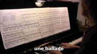 Chanson Triste, Duparc, Grada Gootjes-live-piano accompaniment, with lyrics, karaoke