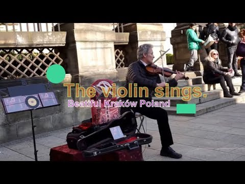AMAZING Street Musician Violinist in Old City Krakow Poland (HD)