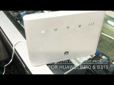 How To Fix Power Light Problem For Huawei B310 B315 Youtube